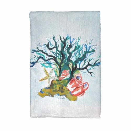 Betsy Drake Kt1092 Starfish Coral Shells Kitchen Towel 1 Jay C Food Stores