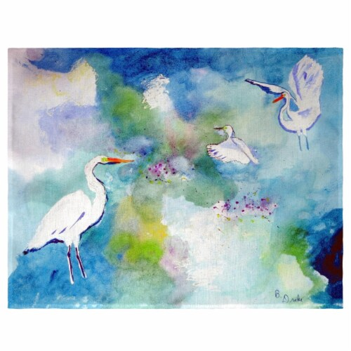 Betsy Drake PM1047 Three Egrets Place Mat - Set of 4 Perspective: front