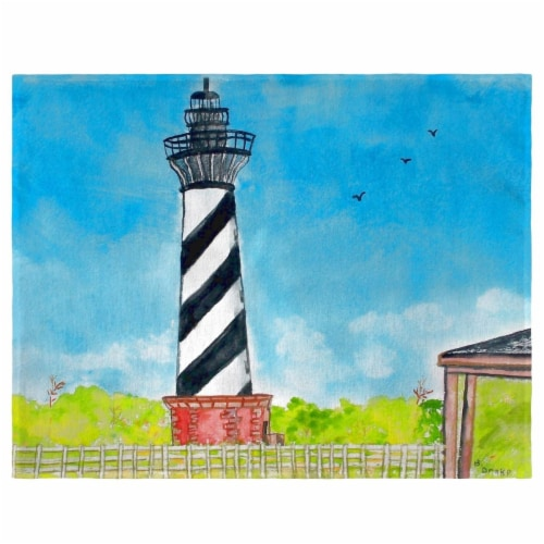 Betsy Drake PM1068 Hatteras Lighthouse Place Mat - Set of 4 Perspective: front