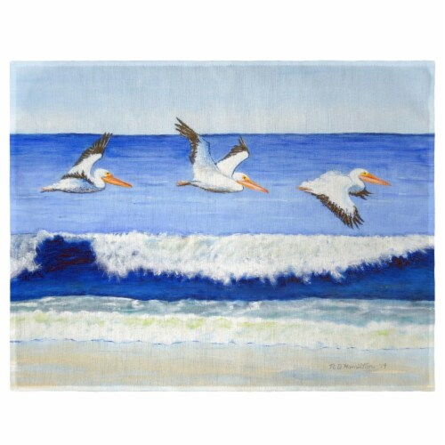 Betsy Drake PM1076 Skimming the Surf Place Mat - Set of 4 Perspective: front