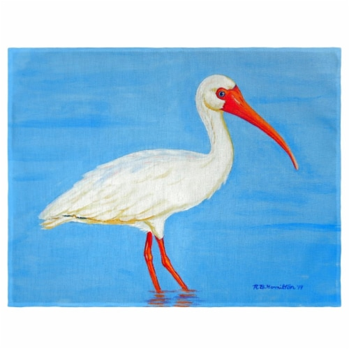 Betsy Drake PM1086 Posing White Ibis Place Mat - Set of 4 Perspective: front