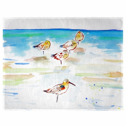 Betsy Drake PM1090 Five Sanderlings Place Mat - Set of 4 Perspective: front