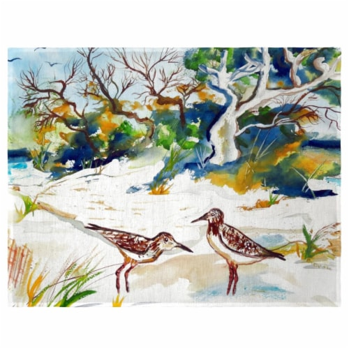 Betsy Drake PM487 Trees & Beach Place Mat - Set of 4 Perspective: front