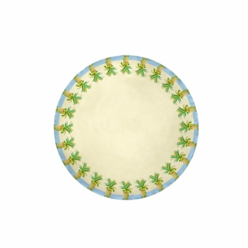 Betsy Drake TR400 58 in. Pineapples Table Cloth Perspective: front