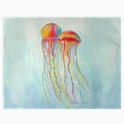 Betsy Drake PM1095 Colorful Jellyfish Place Mat - Set of 4 Perspective: front