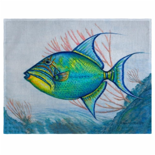 Betsy Drake PM114A Trigger Fish Place Mat - Set of 4 Perspective: front