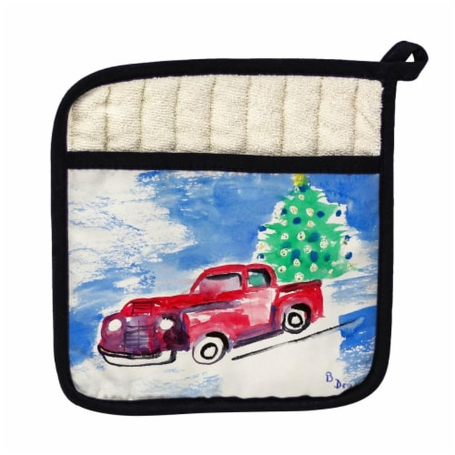 Betsy Drake Truck & Tree Pot Holder Perspective: front