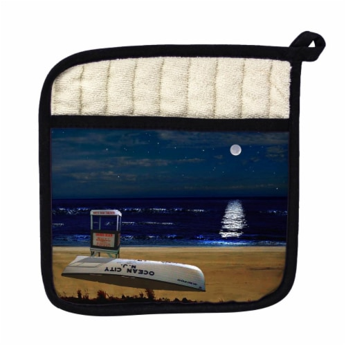 Betsy Drake Ocean City Beach Pot Holder Perspective: front