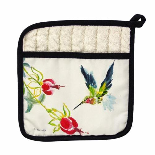 Betsy Drake Hummingbird Pot Holder Perspective: front