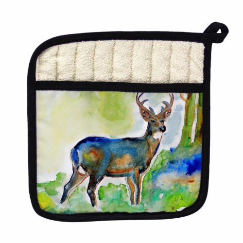 Betsy Drake Deer Pot Holder Perspective: front