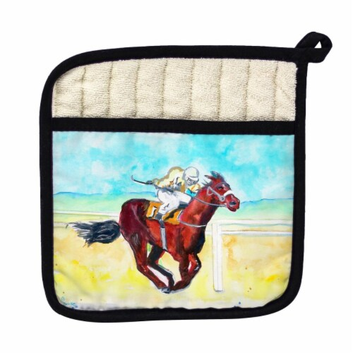 Betsy Drake Airborne Horse Pot Holder Perspective: front