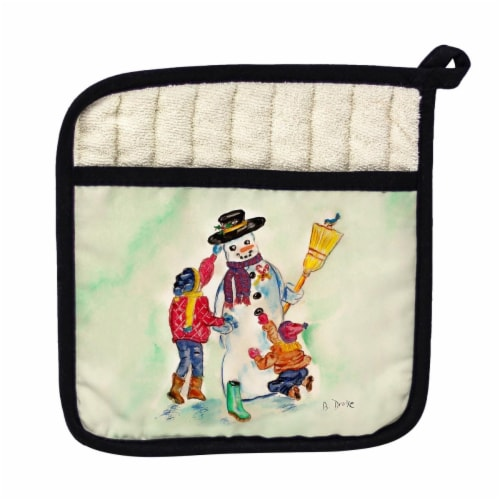 Betsy Drake Snowman Pot Holder Perspective: front