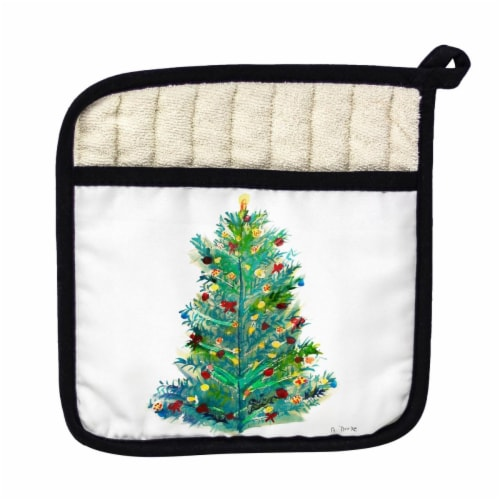 Betsy Drake Christmas Tree Pot Holder Perspective: front