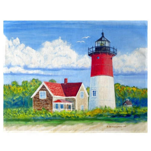 Betsy Drake PM1120 Nauset Lighthouse, Cape Cod, MA Place Mat - Set of 4 Perspective: front