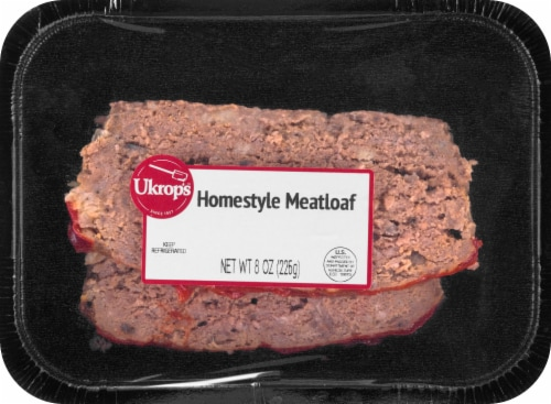 Ukrop's Old Fashoned Meatloaf Heat & Eat Meal Perspective: front