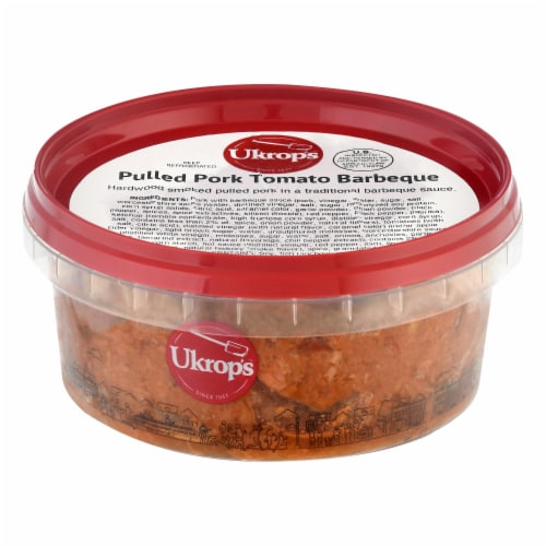 Ukrop's Pulled Pork Tomato BBQ Entree Meal Perspective: front