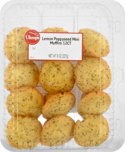 Ukrop's Lemon Poppyseed Mini Muffins 12 Count Perspective: front