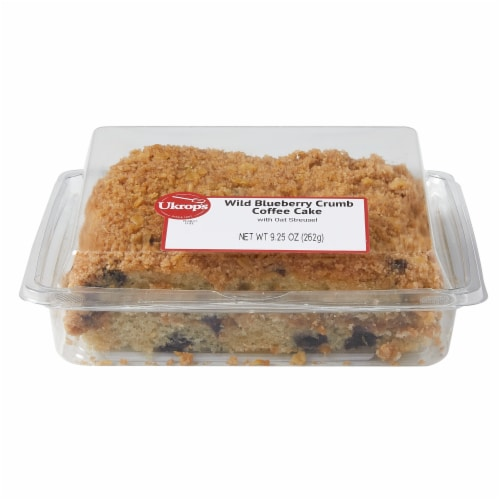 Ukrop's Homestyle Foods Wild Blueberry Crumb Coffee Cake Perspective: front