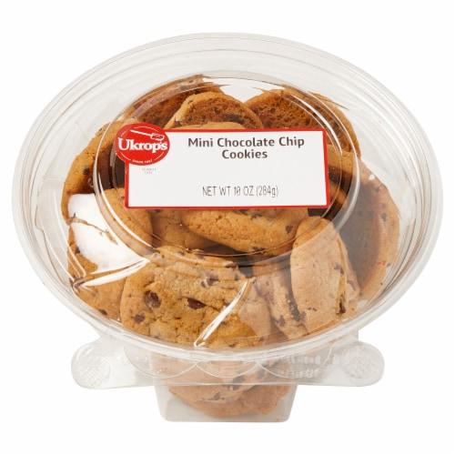 Ukrop's Mini Chocolate Chip Cookies Perspective: front