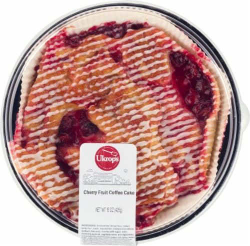 Ukrop's Cherry Fruit Coffee Cake Perspective: front
