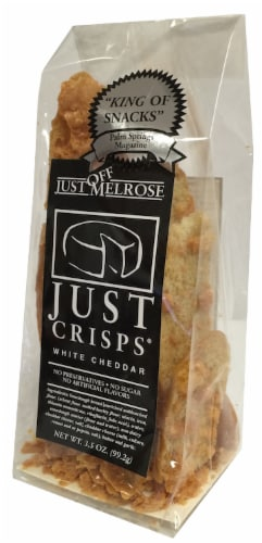 Just Crisps White Cheddar Perspective: front