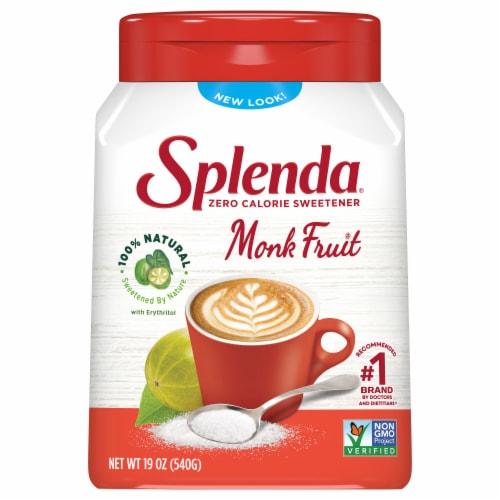 Splenda Naturals Monk Fruit Zero Calorie Sweetener Perspective: front