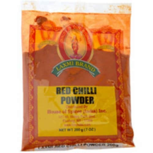 Laxmi Red Chilli Powder - 7 Oz (200 Gm) Perspective: front