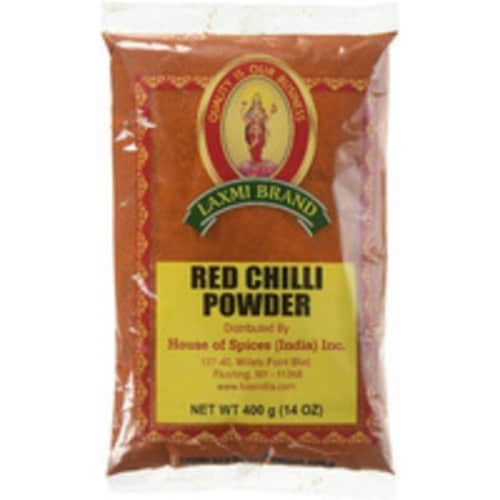 Laxmi Red Chilli Powder - 14 Oz (400 Gm) Perspective: front