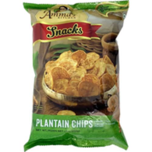 Amma's Kitchen Plantain Chips - 200 Gm Perspective: front