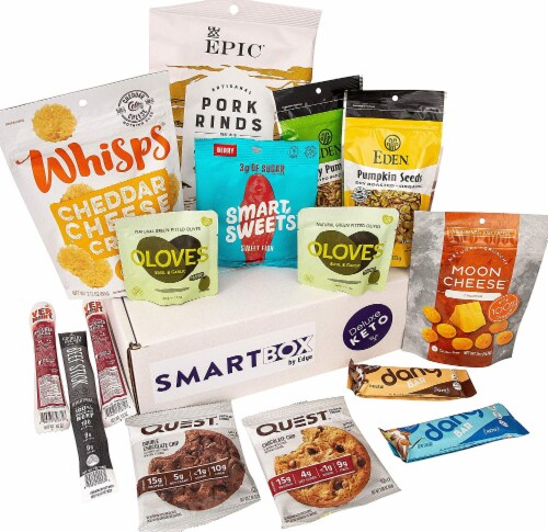 Keto Snack Box and Care Package | Low Carb and Keto Friendly Gift or Snack Set Perspective: front