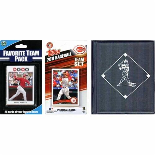 C & I Collectables 2011REDSTSC MLB Cincinnati Reds Licensed 2011 Topps Team Set and Favorite Perspective: front