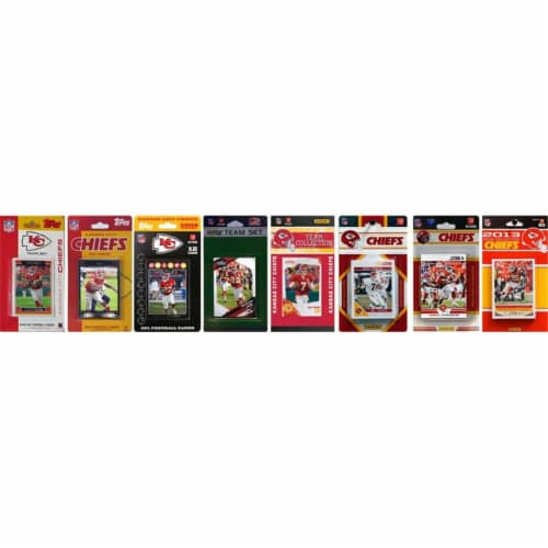 CandICollectables CHIEFS813TS NFL Kansas City Chiefs 8 Different Licensed Trading Card Team S Perspective: front