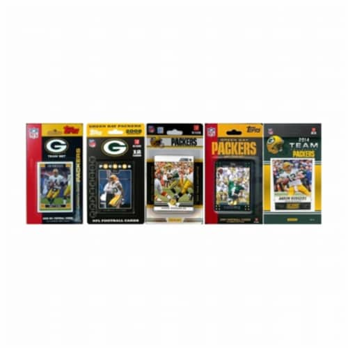 CandICollectables PACKERS514TS NFL Green Bay Packers 5 Different Licensed Trading Card Team S Perspective: front