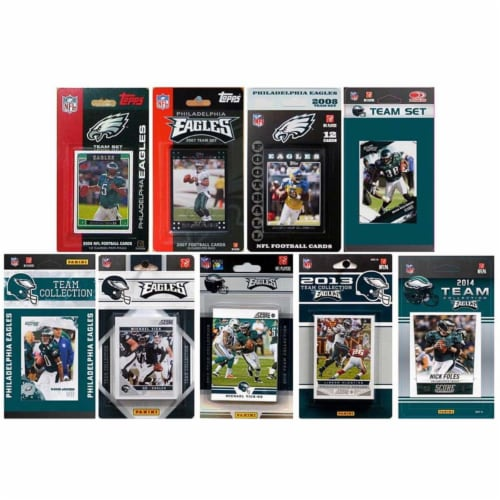 CandICollectables EAGLES914TS NFL Philadelphia Eagles 9 Different Licensed Trading Card Team Perspective: front