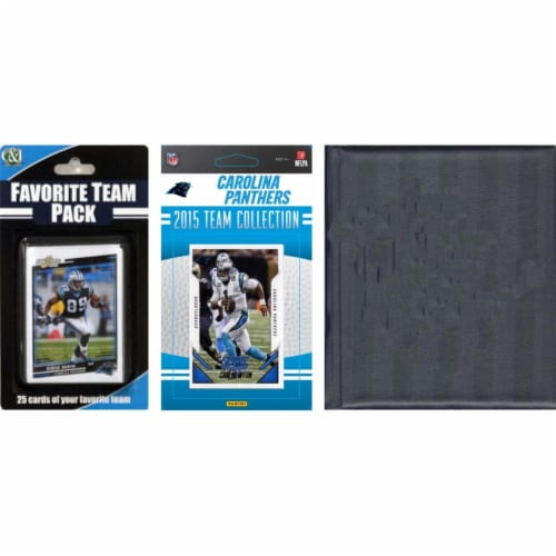 CandICollectables 2015PANTHERSTSC NFL Carolina Panthers Licensed 2015 Score Team Set & Favori Perspective: front
