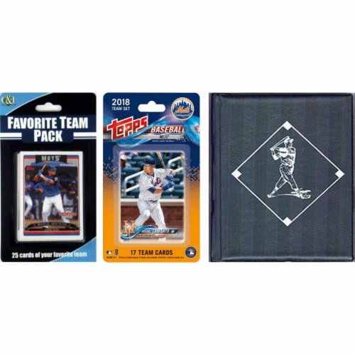 C & I Collectables METSTSC18 MLB New York Mets Licensed 2018 Topps Team Set & Favorite Player Perspective: front
