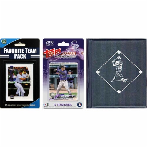 C & I Collectables ROCKIESTSC18 MLB Colorado Rockies Licensed 2018 Topps Team Set & Favorite Perspective: front