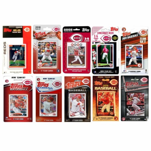 C & I Collectables REDS1018TS 2018 MLB Cincinnati Reds 10 Different Licensed Trading Card Tea Perspective: front
