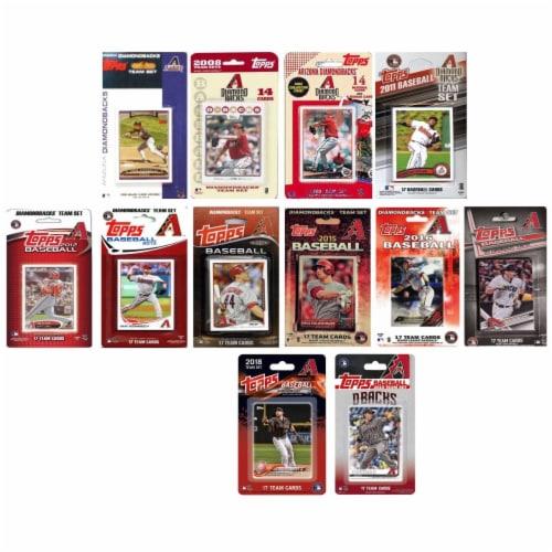C&I Collectables DBACKS1219TS MLB Arizona Diamondbacks 12 Different Licensed Trading Card Tea Perspective: front