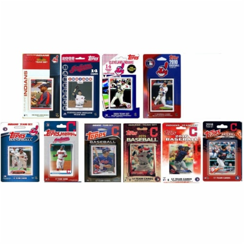 C&I Collectables INDIANS1019TS MLB Cleveland Indians 10 Different Licensed Trading Card Team Perspective: front