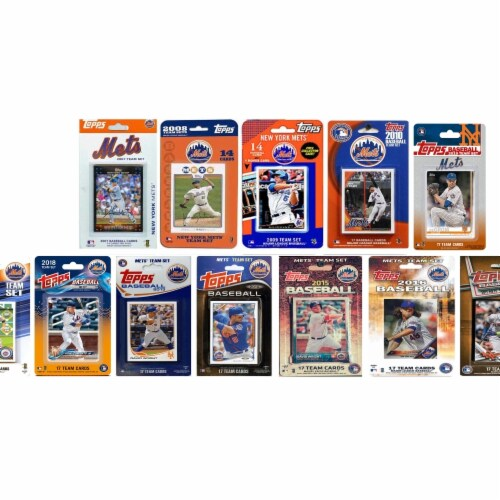 C&I Collectables METS1219TS MLB New York Mets 12 Different Licensed Trading Card Team Sets Perspective: front