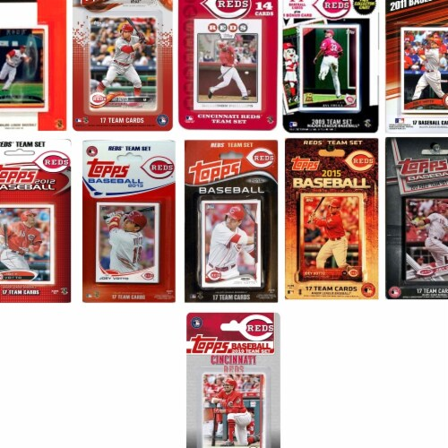 C&I Collectables REDS1119TS MLB Cincinnati Reds 11 Different Licensed Trading Card Team Sets Perspective: front