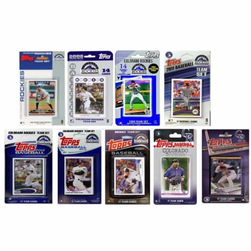 C&I Collectables ROCKIES919TS MLB Colorado Rockies 9 Different Licensed Trading Card Team Set Perspective: front