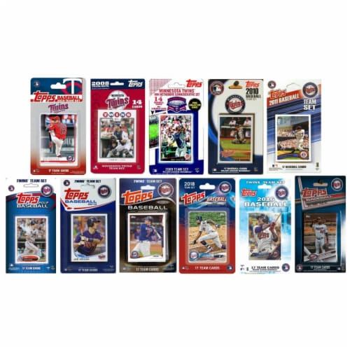 C&I Collectables TWINS1119TS MLB Minnesota Twins 11 Different Licensed Trading Card Team Sets Perspective: front