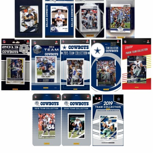 C&I Collectables COWBOYS1219TS NFL Dallas Cowboys 12 Different Licensed Trading Card Team Set Perspective: front