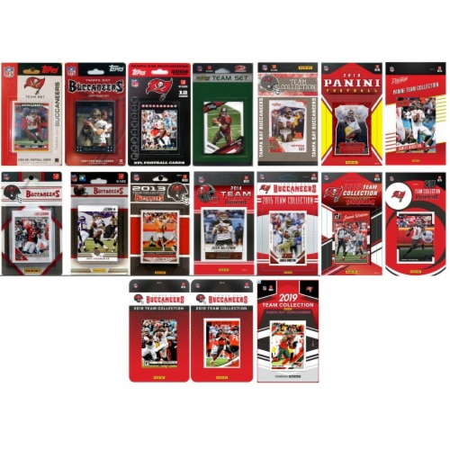 C&I Collectables BUCS1719TS NHL Tampa Bay Buccaneers 17 Different Licensed Trading Card Team Perspective: front