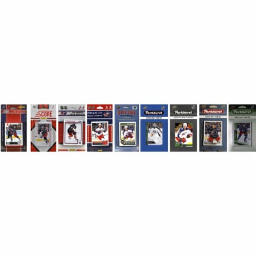 C&I Collectables BLUEJACKETS919TS NHL Columbus Blue Jackets 9 Different Licensed Trading Card Perspective: front