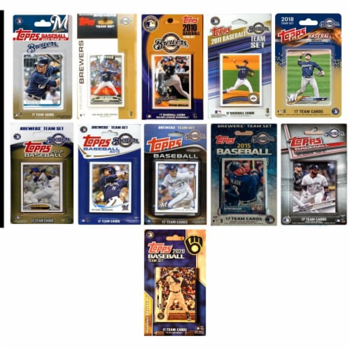 C&I Collectables BREWERS1120TS MLB Milwaukee Brewers 11 Different Licensed Trading Card Team Perspective: front