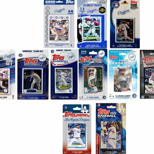 C&I Collectables DODGERS1020TS MLB Los Angeles Dodgers 10 Different Licensed Trading Card Tea Perspective: front