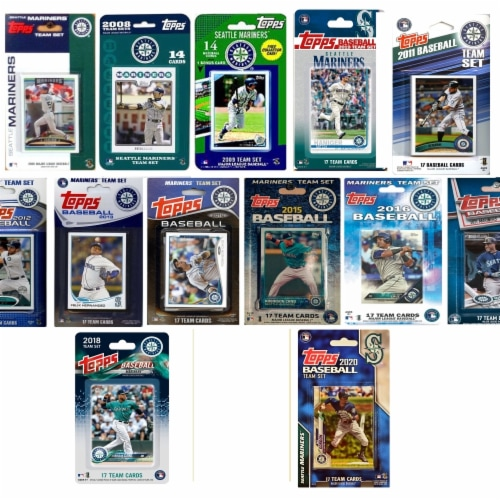 C&I Collectables MARINERS1320TS MLB Seattle Mariners 13 Different Licensed Trading Card Team Perspective: front